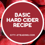 Basic Hard Cider Recipe