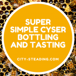 Super Simple Cyser Bottling and Tasting