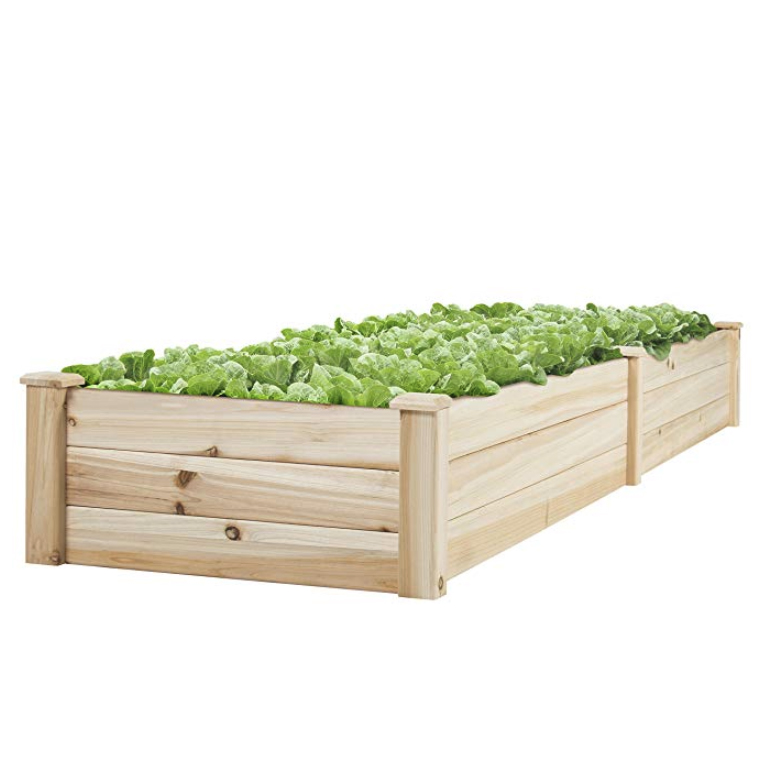 Best Choice Products Wooden Raised Elevated Vegetable